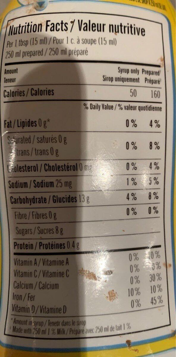Nesquick - Nutrition facts - en