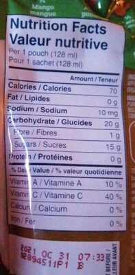 Gerber - Informations nutritionnelles - fr