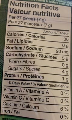 Yougourt melts - Informations nutritionnelles - fr