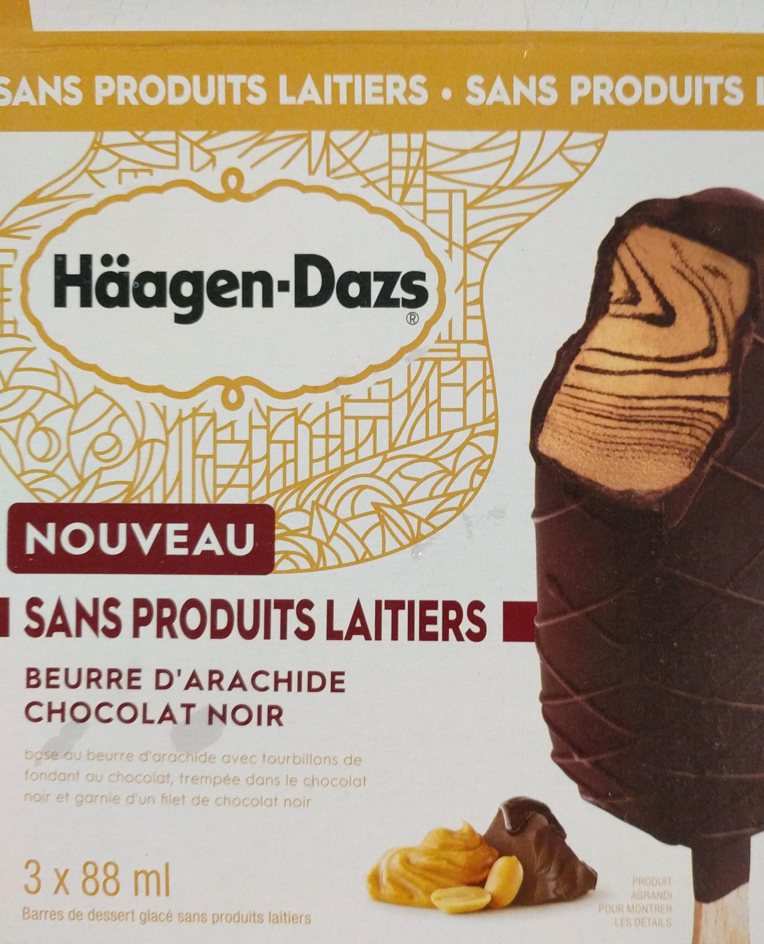 Haagen Dazs sans produits laitiers beurre d'arachide chocolat noir - Product