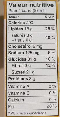 Haagen Dazs sans produits laitiers beurre d'arachide chocolat noir - Nutrition facts