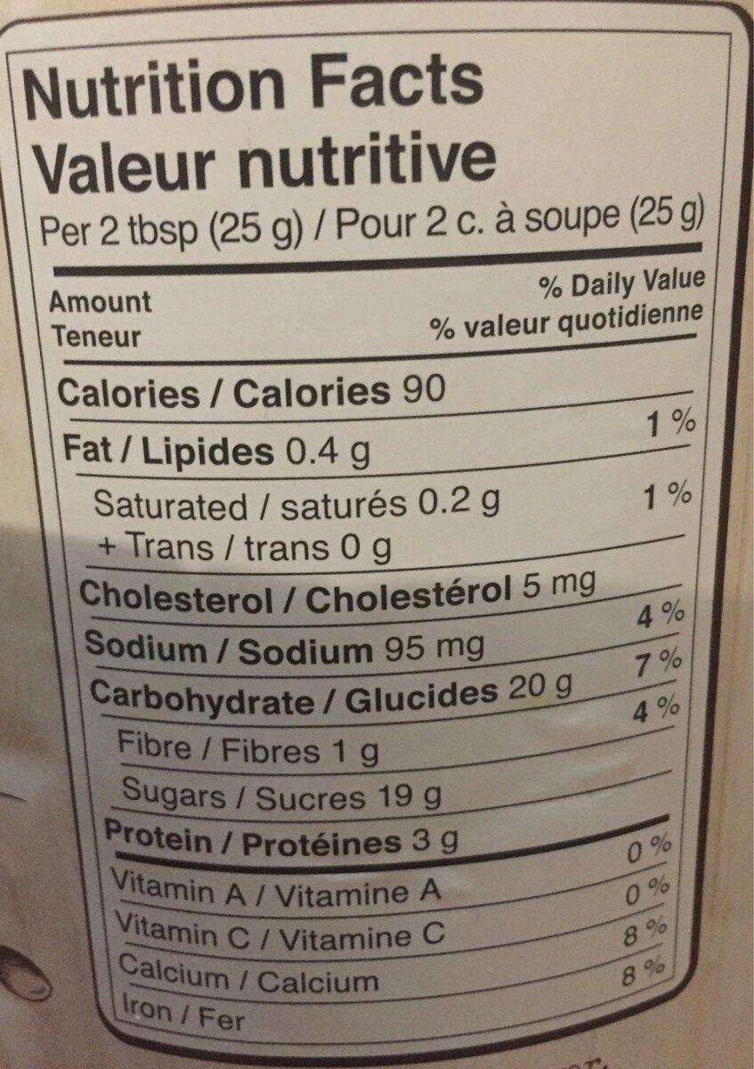Simplement chocolat chaud - Informations nutritionnelles - fr
