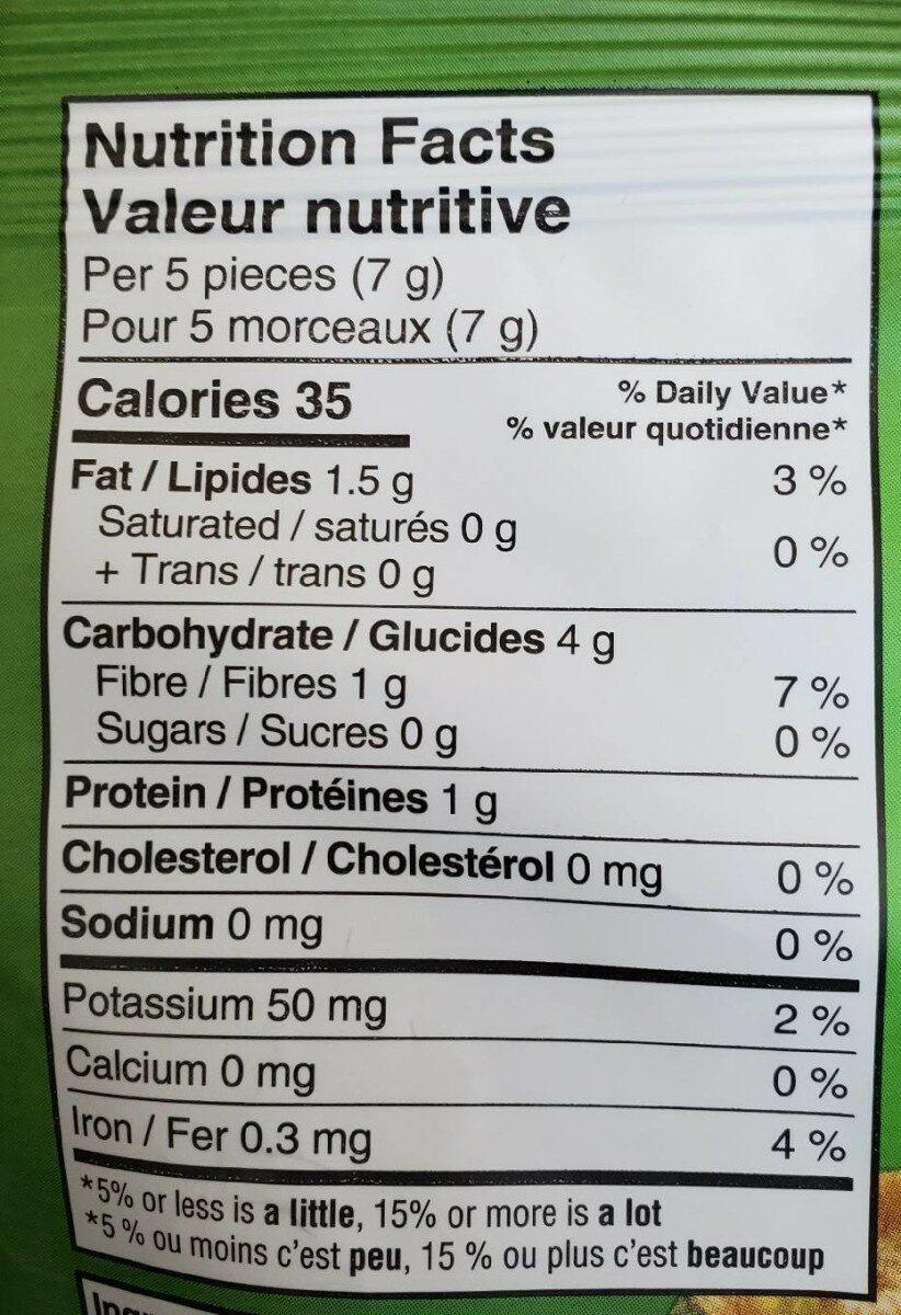 Croutilles de Quinoa - Informations nutritionnelles - fr