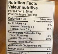 Crème glacé - Nutrition facts - en