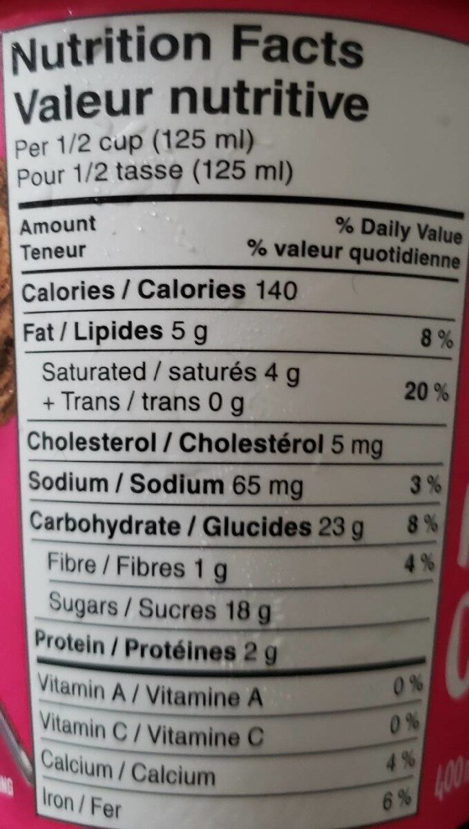 Nestle Scoops - Nutrition facts - en