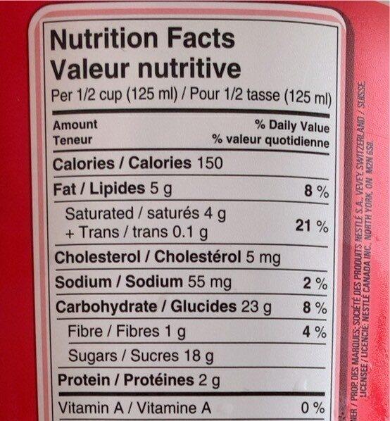 Crème Glacée Kit Kat - Nutrition facts - en