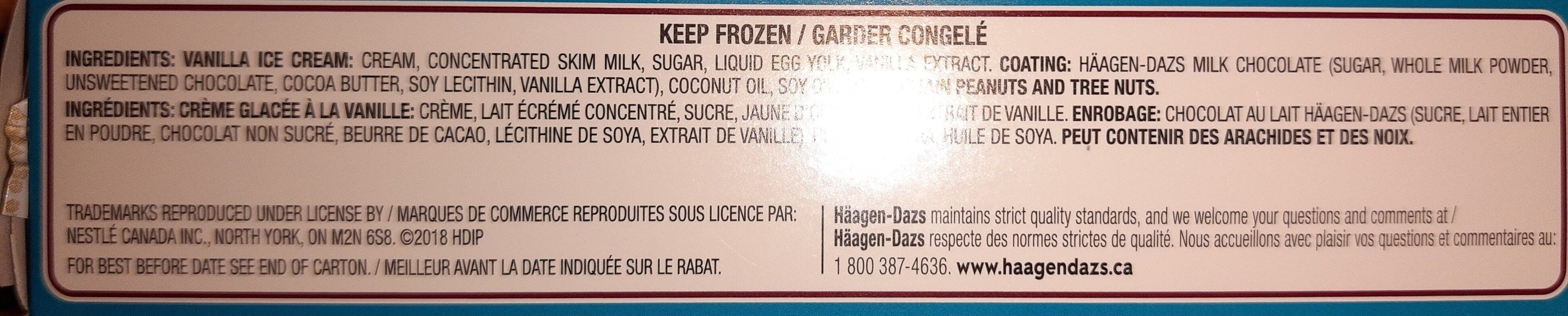 Haagan Dazs - Ingredients - en