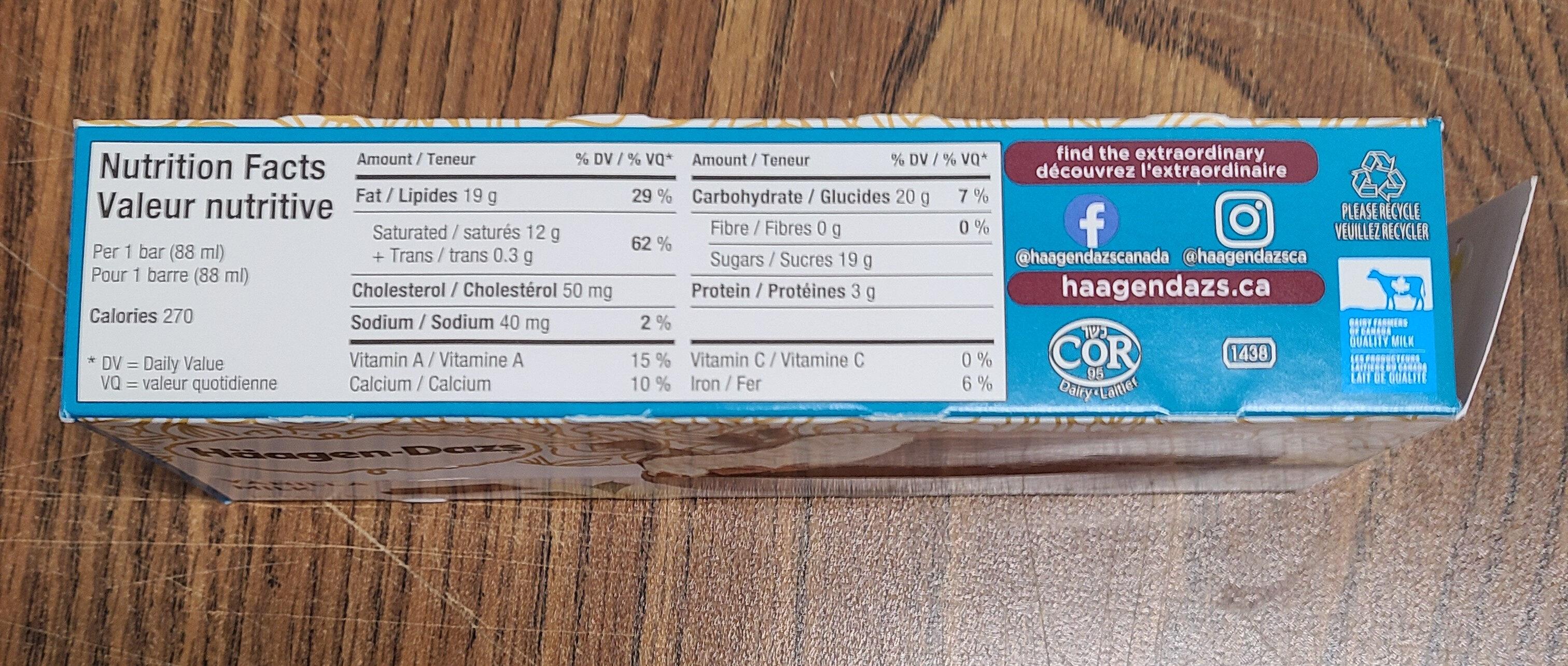 Haagan Dazs - Nutrition facts - fr