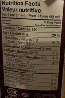 Vanille amende - Nutrition facts - en