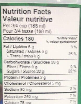 Parlour - Nutrition facts - en
