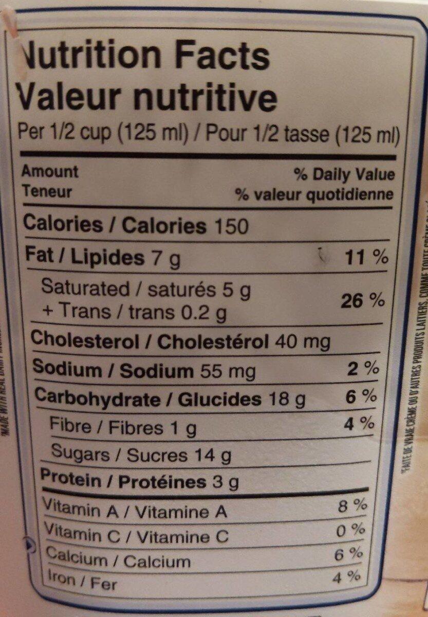 La vraie crème - chocolat - Informations nutritionnelles - en