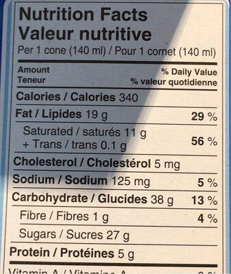 Drumstick - Nutrition facts - en