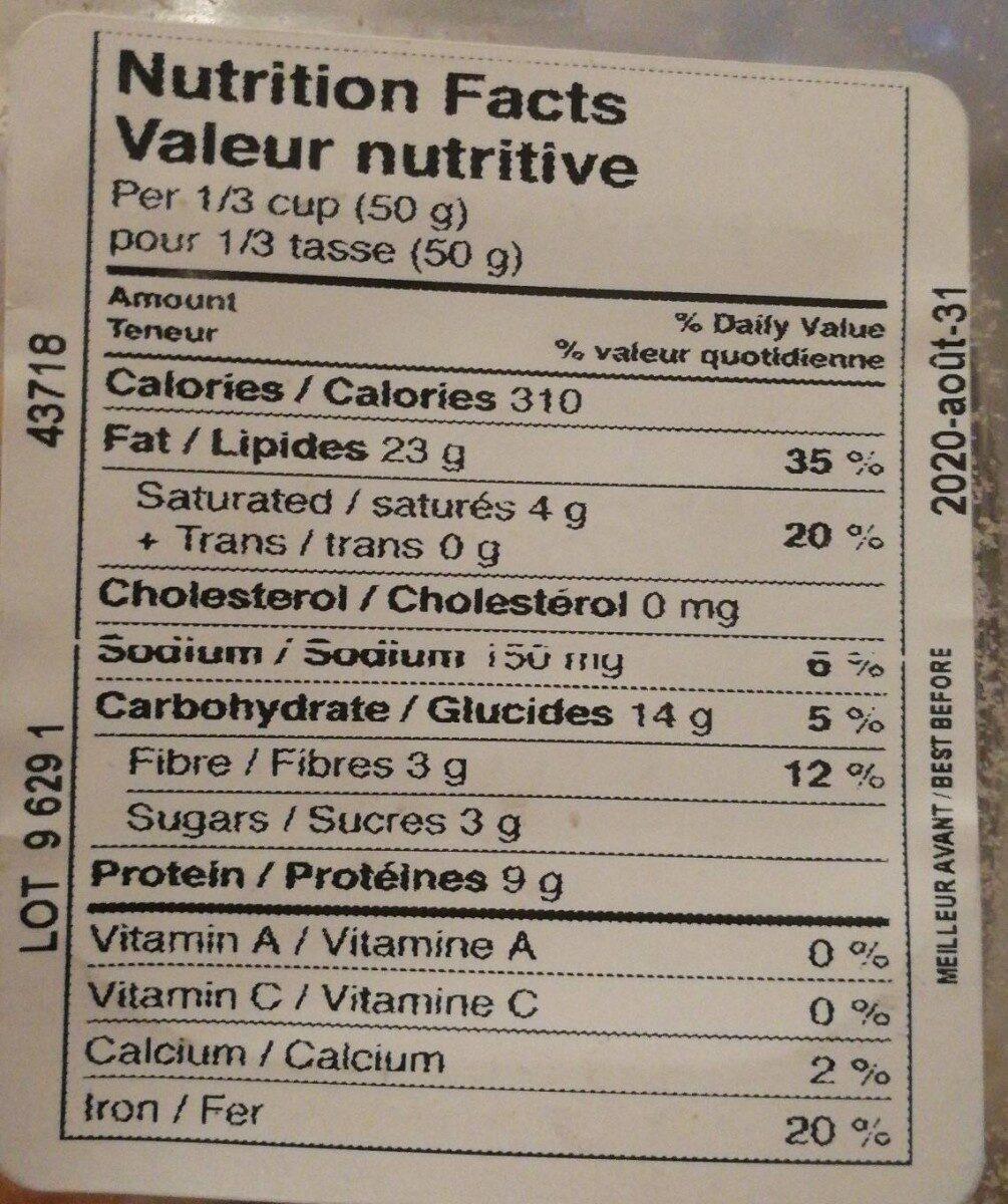 Noix de cajou salées - Nutrition facts - fr