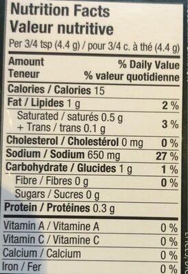 Bouillon de poulet - Informations nutritionnelles - fr