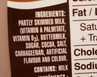 Lair partiellement ecreme au chocolat - Ingredients - en