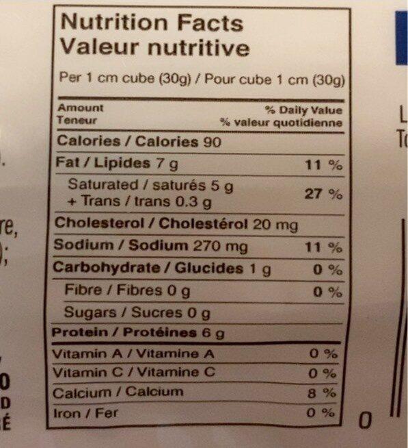 Feta - Voedingswaarden - fr