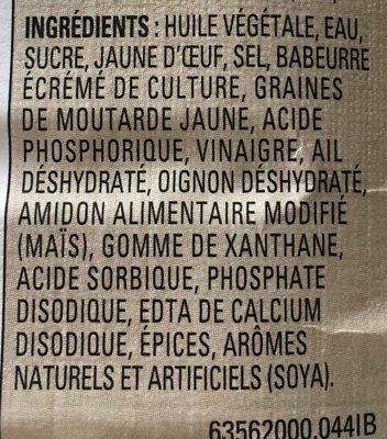 The original ranch - Ingredients