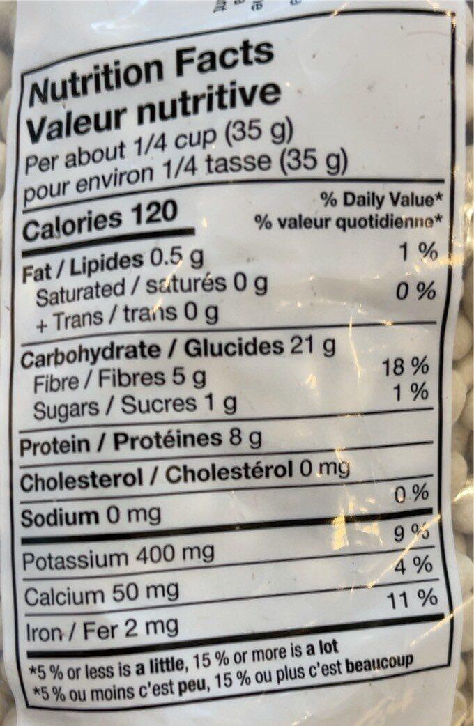 White pea beans - Informations nutritionnelles - fr
