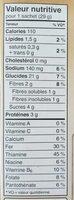 Gruau Instantané (pomme Cannelle Et Sucre) - Nutrition facts - fr