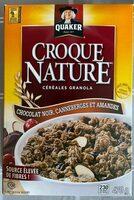Croque Nature Chocolat noir, Canneberges et amandes - Produit - fr