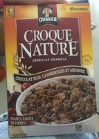 Croque Nature chocolat noir, canneberges et amendes - Product - fr