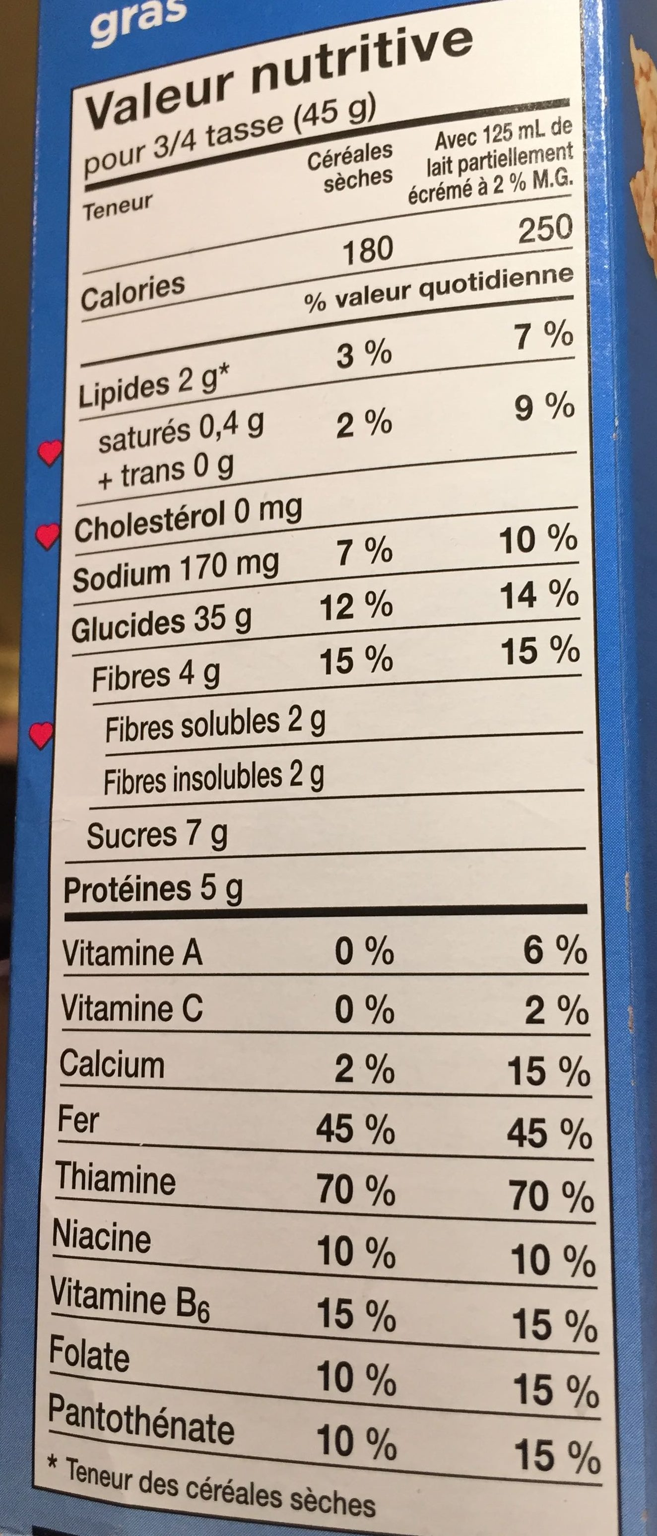 Squares à l' avoine - Nutrition facts - fr