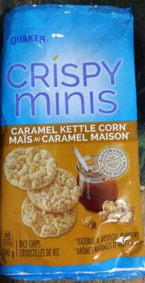 Crispy Minis Caramel Kettle Corn Rice Chips - Product