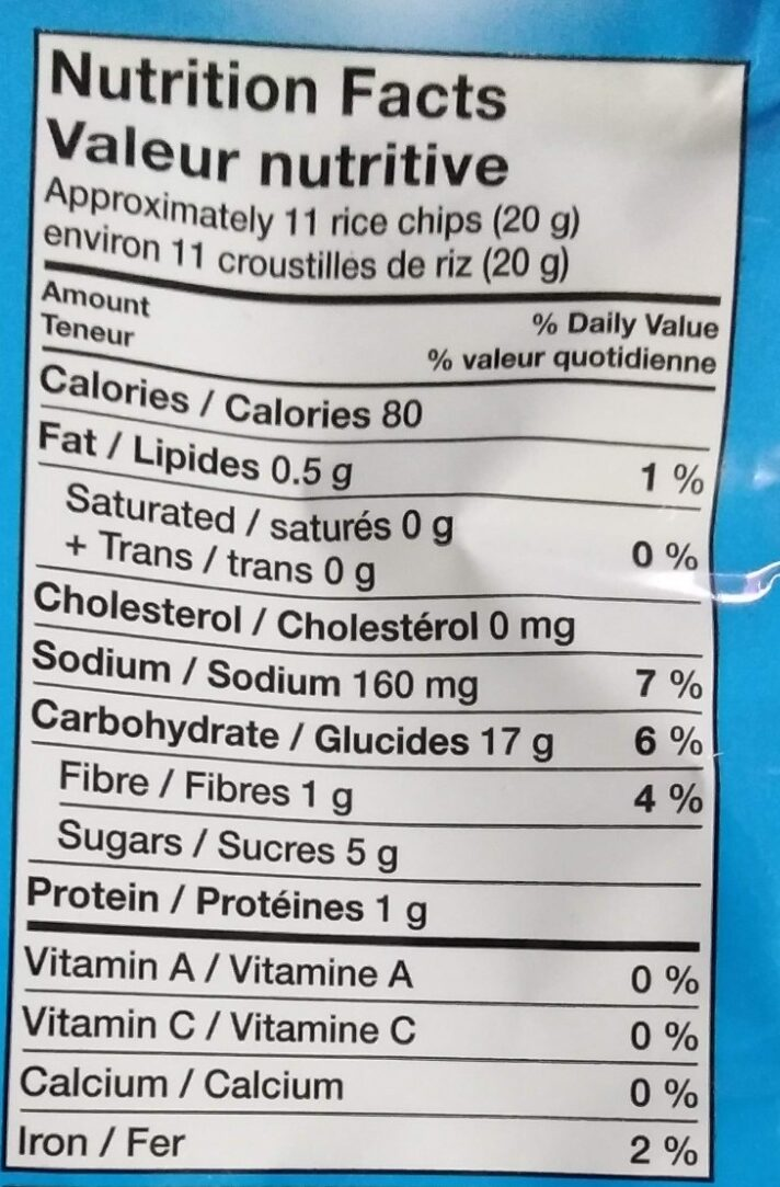 Crispy Minis Caramel Kettle Corn Rice Chips - Nutrition facts