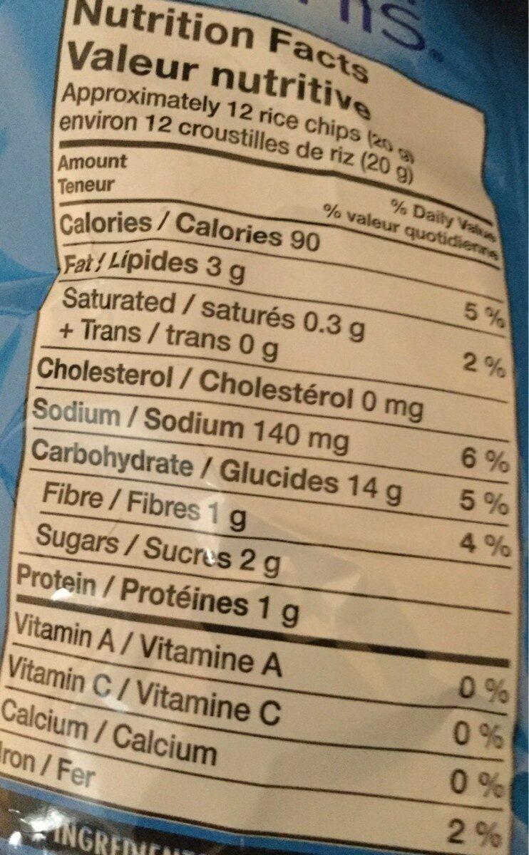 Crisp minis - Informations nutritionnelles - fr