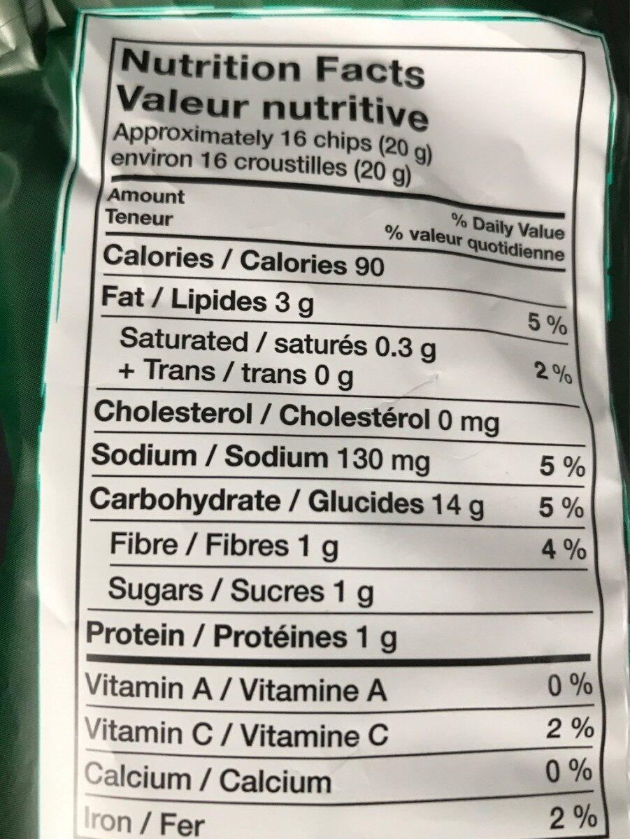 Crispi mini au legume - Informations nutritionnelles - fr