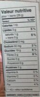 Chewy - Nutrition facts - en