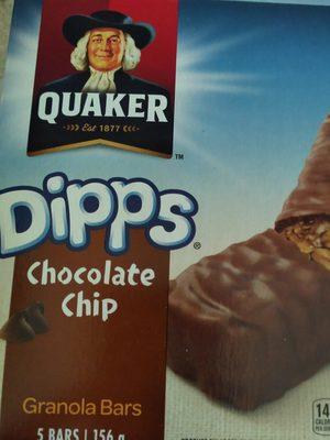 Quaker Chocolate Chip Dipps Granola Bar - Product