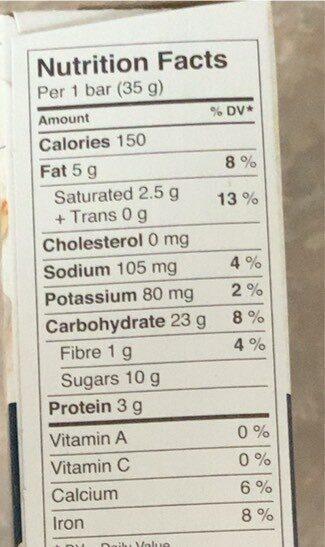 Barre Granola Quinoa Yogourt Noix - Nutrition facts - en