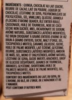 Quinoa Granola Bars Chocolate Nut Medley - Ingredients