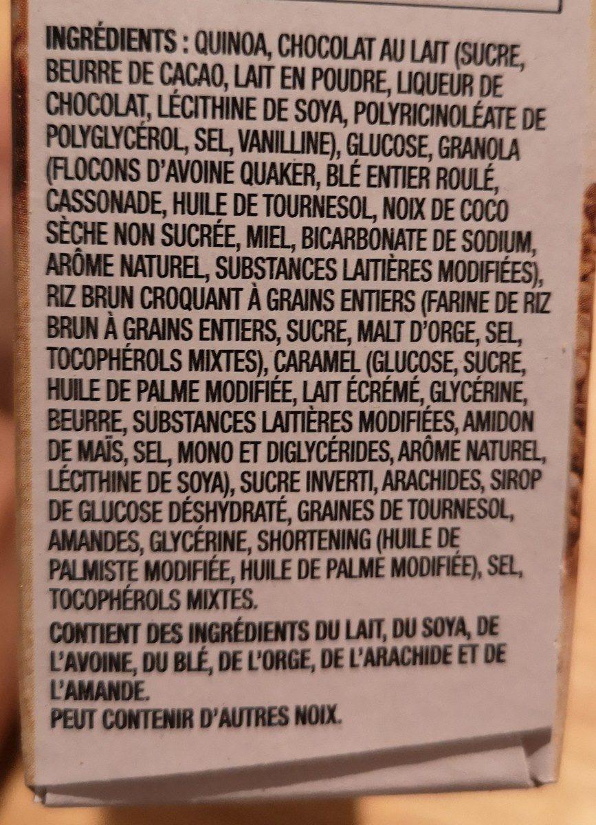 Quinoa Granola bars chocolat noix - Ingrediënten - fr