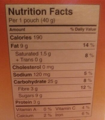 Bouchée d'avoine - Informations nutritionnelles - fr