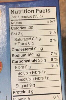 Gruau instantané - Informations nutritionnelles - fr