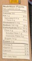 Grau instantané - Informations nutritionnelles - fr