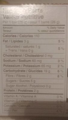 Chewy chocolate chip - Informations nutritionnelles - fr