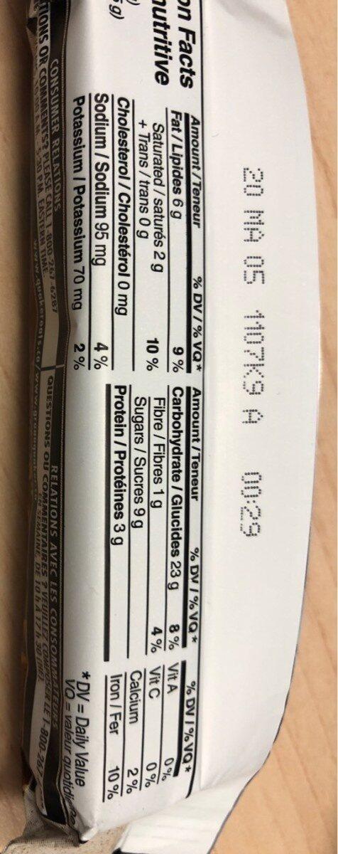 Quinoa chocolat et noix - Informations nutritionnelles - fr