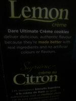 Crème au citron - Ingrédients - en
