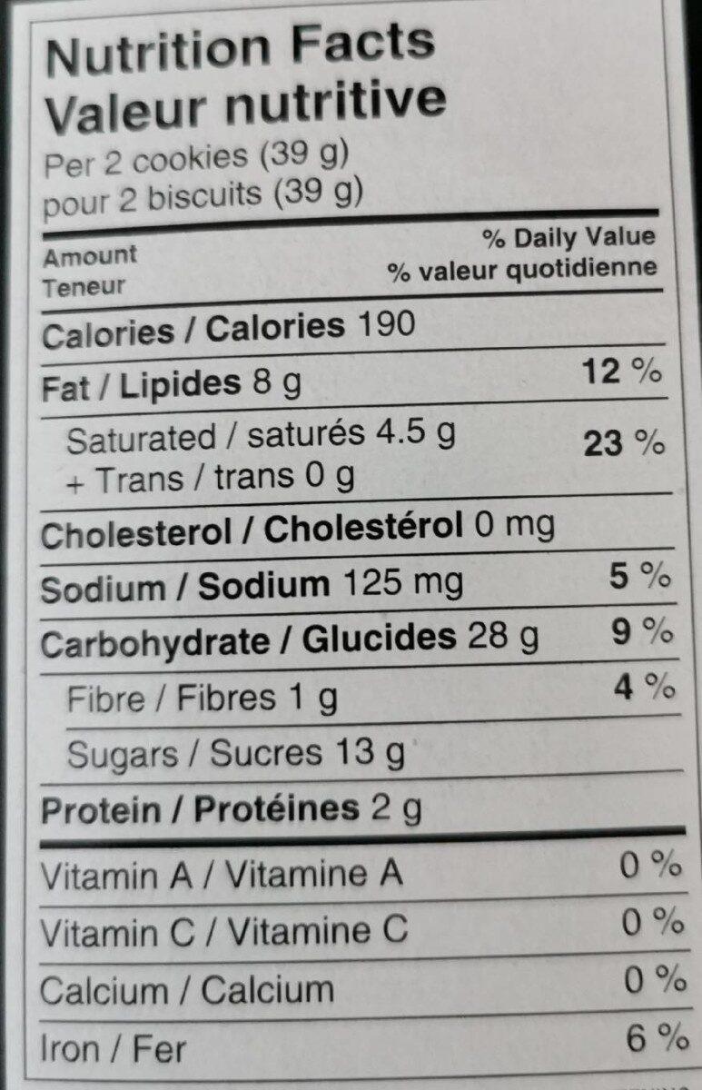 Crème au citron - Informations nutritionnelles - en