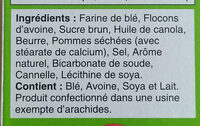 Dare croquants pomme cannelle - Ingredients