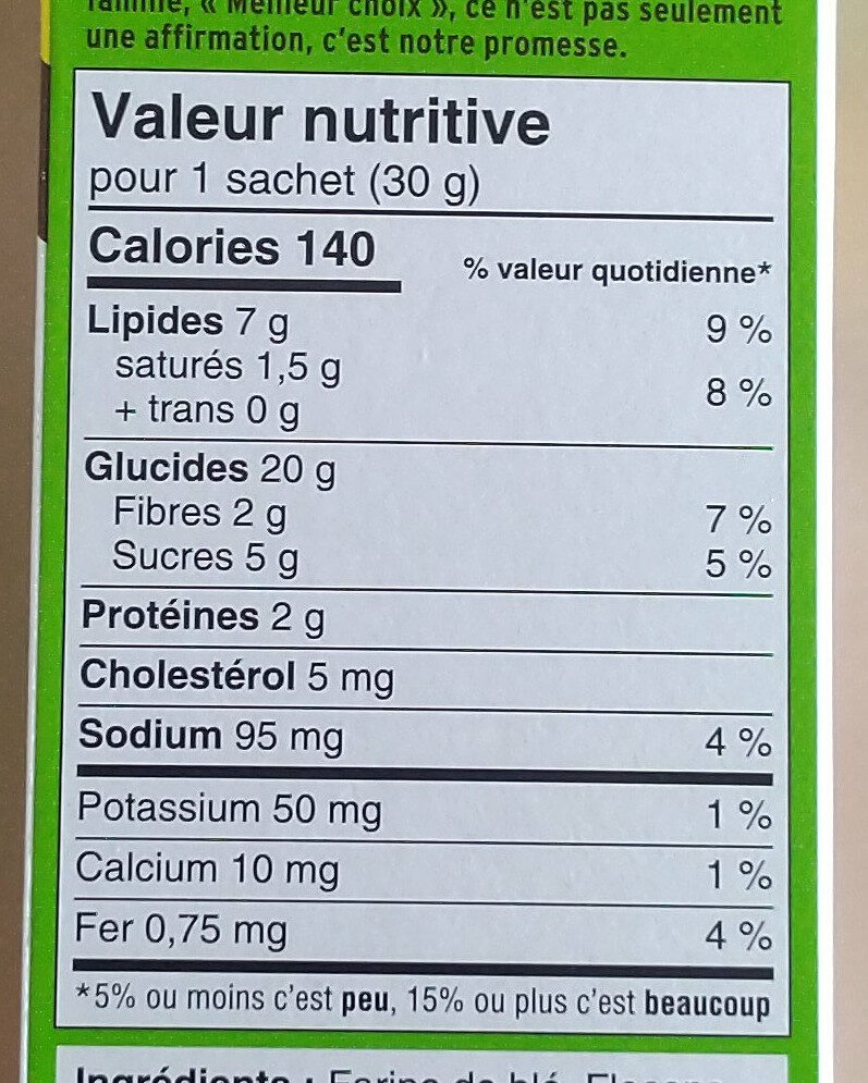 Dare croquants pomme cannelle - Nutrition facts