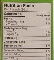 Croquant pomme canelle - Nutrition facts - fr