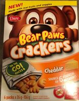 Bear Paws crackers - Product - fr