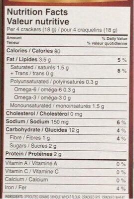 Breton Grains germés - Nutrition facts - fr
