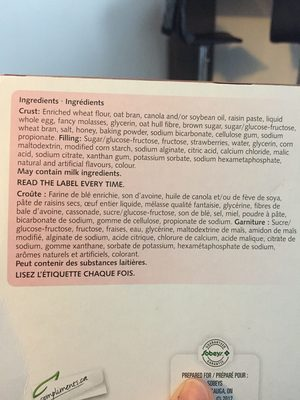 Barres De Céréales (fraises) - Ingrédients - fr