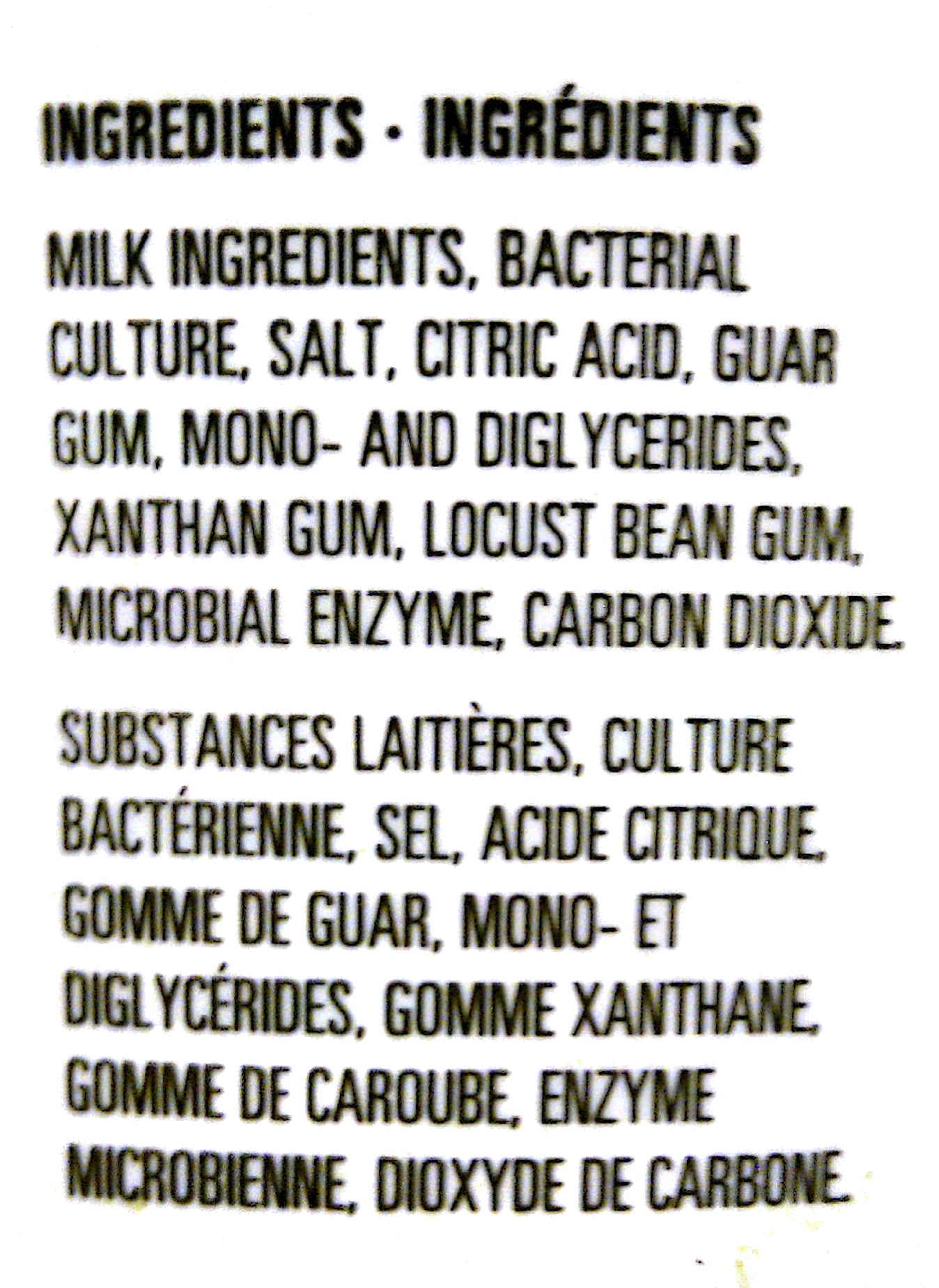Cottage Cheese   Ingredients