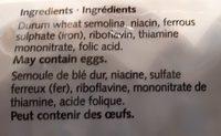 Elbow Macaroni - Ingrédients - en